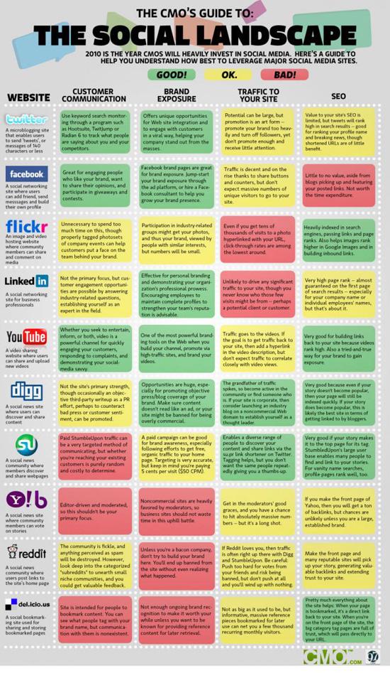 Social Media Landscape Infograph